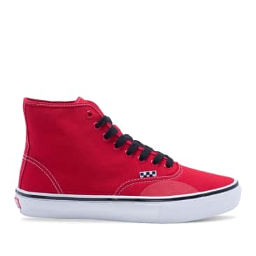 Vans X Hockey Skate Authentic High Andrew Allen Shoes - Red