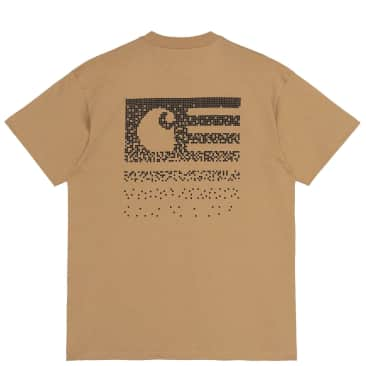 Carhartt WIP Fade State T-Shirt - Dusty H Brown / Black