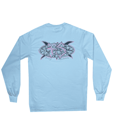 Frog Surf Turtle Long Sleeve T-Shirt - Water Blue
