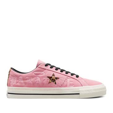 Converse CONS One Star Pro 90s Shoes - Pink / Black / Egret