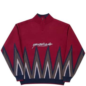 Yardsale Blaze Knit Quarterzip - Red
