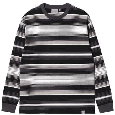 Carhartt WIP Tuscon Long Sleeve T-Shirt - Tuscon Stripe / Blacksmith