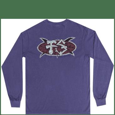 Frog Surf Turtle Long Sleeve T-Shirt - Purple