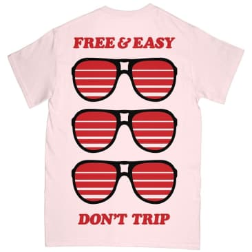 Free & Easy Sunglasses T-Shirt - Pale Pink