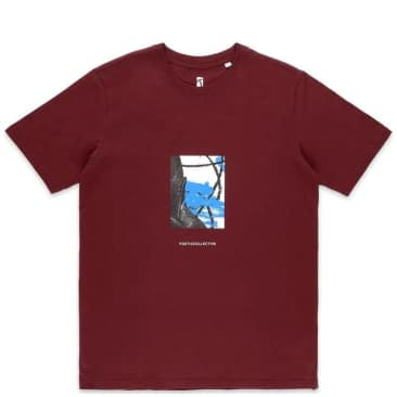 Poetic Collective Painting T-Shirt - Burgundy