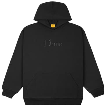 Dime Classic Embroidered Hoodie - Black