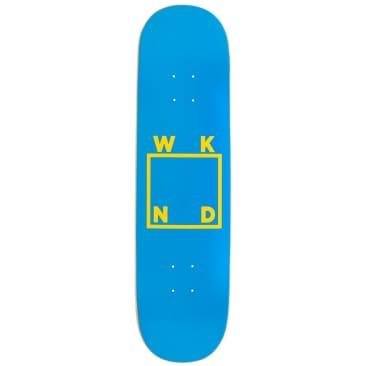 "WKND Blue & Yellow Logo Skateboard Deck - 8.125"""
