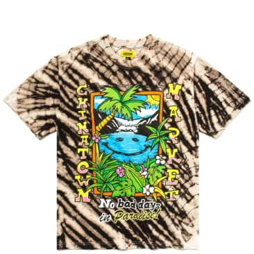 Market Smiley No Bad Days In Paradise T-Shirt - Tie Dye