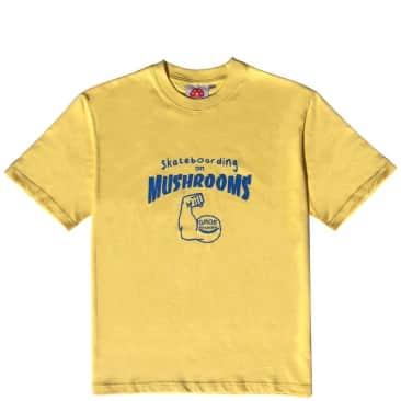 Stingwater Skateboarding on Mushrooms T Shirt - Ghee Yellow