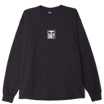 OBEY Eyes Icon 3 Long Sleeve T-Shirt - Off Black