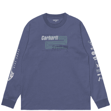 Carhartt WIP Long Sleeve Systems T-Shirt - Cold Viola