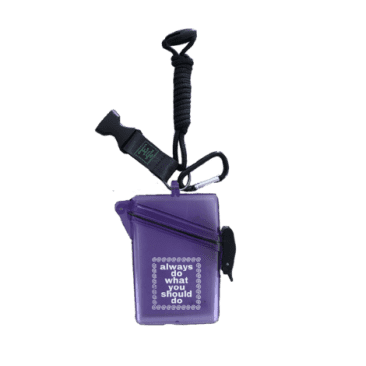 always do what you should do Lanyard Case - Purple
