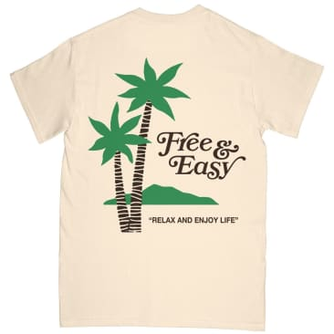 Free & Easy Palms T-Shirt - Natural