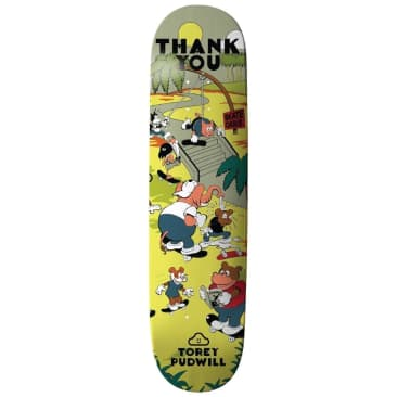 """Thank You Torey Pudwill Skate Oasis Skateboard Deck - 8"""""""