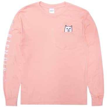 Ripndip Lord Nermal Pocket Long Sleeve T-Shirt - Dusty Rose