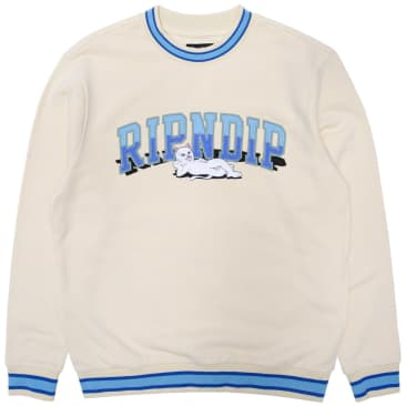 Ripndip Team Spirit Embroidered Crewneck - Natural