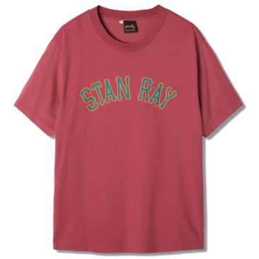 Stan Ray College Graphic T-Shirt - Deep Red