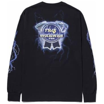 HUF Lightning Long Sleeve T-Shirt - Black