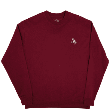 Pass~Port Bobby Embroidered Sweater - Maroon