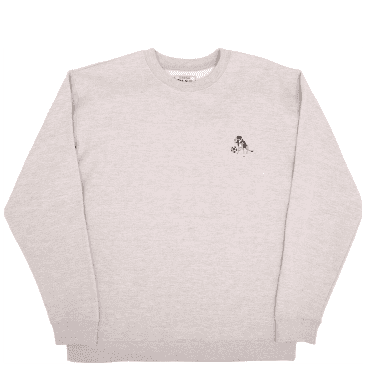 Pass~Port Bobby Embroidered Sweater - Grey Heather
