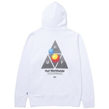 HUF Video Format Triple Triangle Pullover Hoodie - White