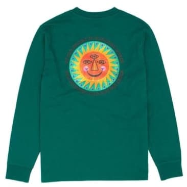 Hikerdelic Mother Earth Long Sleeve T-Shirt - Teal