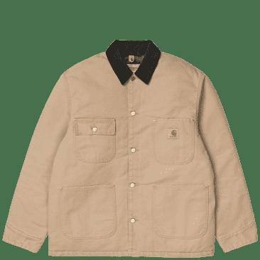 Carhartt WIP OG Chore Coat - Dusty H Brown / Black (Aged Canvas)