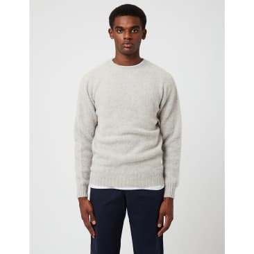 Bhode Supersoft Lambswool Jumper (Made in Scotland) - Ugie Pearl