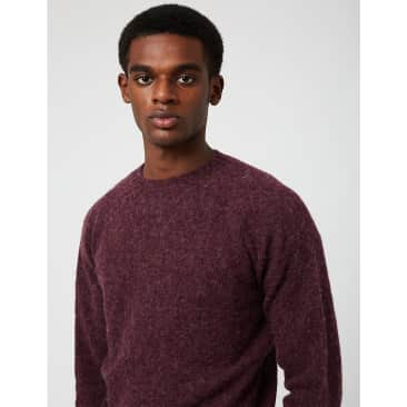 Bhode Supersoft Lambswool Jumper (Made in Scotland) - Pagan Purple
