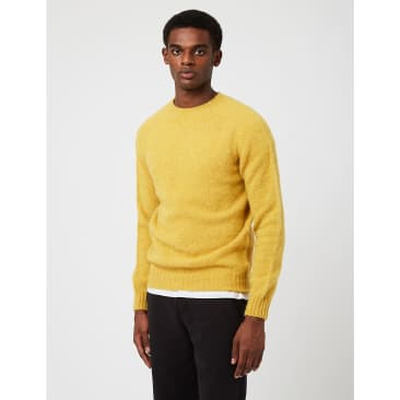 Bhode Supersoft Lambswool Jumper (Made in Scotland) - Nugget Yellow