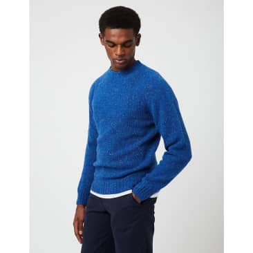 Bhode Supersoft Lambswool Jumper (Made in Scotland) - Deep Blue