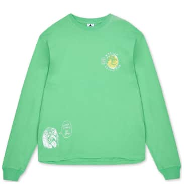 The Wasted Collective Manifesto Long Sleeve T-Shirt - Seafoam