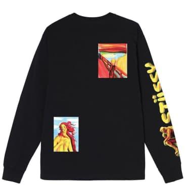 Stüssy Gallery Long Sleeve T-Shirt - Black