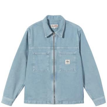 Stüssy Denim Zip Up Work Shirt - Stone Wash