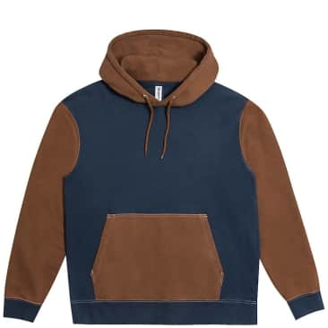 Reception Two Tone Hoodie - Choco Brown / Navy