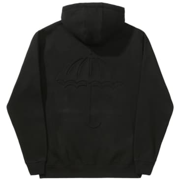 Hélas Relief Zipper Hoodie - Black