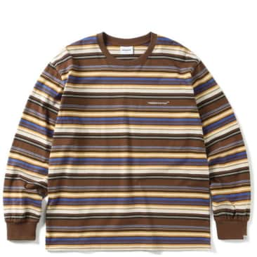 thisisneverthat Multi Stripe Long Sleeve T-Shirt - Brown