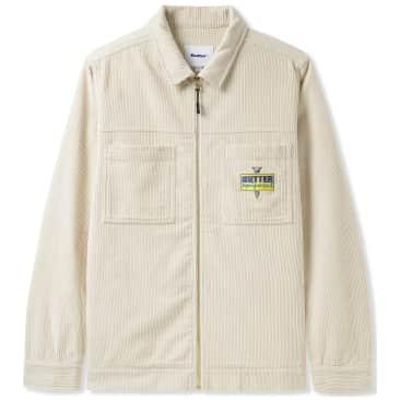 Butter Goods High Wale Cord Worker Overshirt - Bone