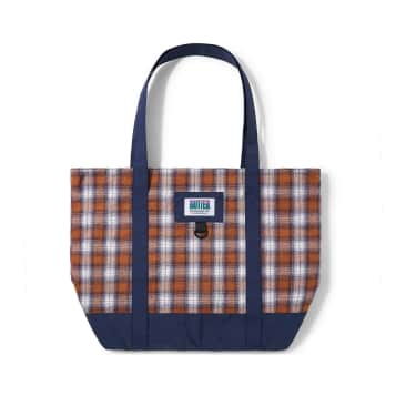 Butter Goods Patchwork Plaid Tote Bag - Navy / Brown / Purple