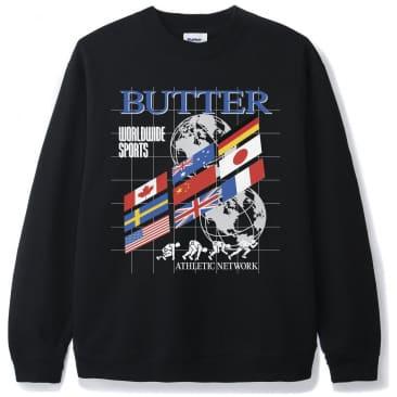 Butter Goods Track Crewneck - Black