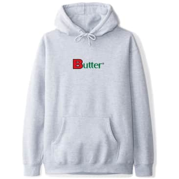 Butter Goods Bold Classic Logo Pullover Hoodie - Heather Grey