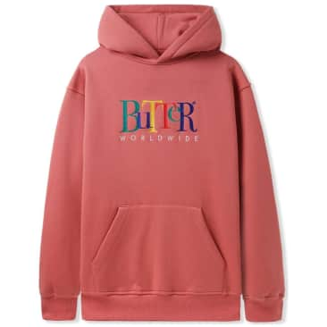 Butter Goods Jumble Embroidered Pullover Hoodie - Rose