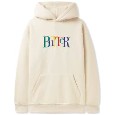 Butter Goods Jumble Embroidered Pullover Hoodie - Oatmeal