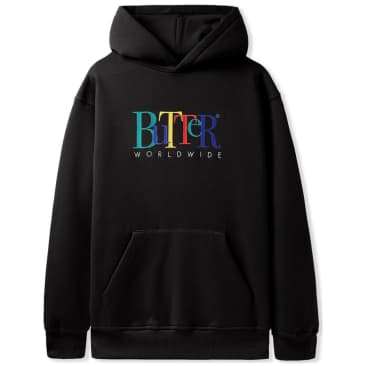 Butter Goods Jumble Embroidered Pullover Hoodie - Black