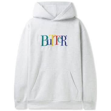 Butter Goods Jumble Embroidered Pullover Hoodie - Ash Grey