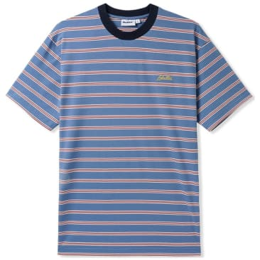 Butter Goods Chase Striped T-Shirt - Blue