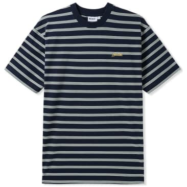 Butter Goods Chase Striped T-Shirt - Black