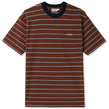 Butter Goods Chase Striped T-Shirt - Brown
