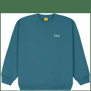 Dime Classic Small Logo Crewneck - Real Teal