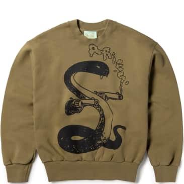 Aries Killa Snake Sweatshirt - Olive